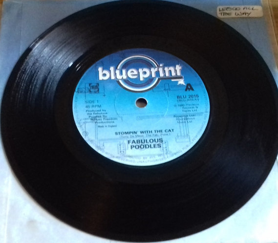 """Fabulous Poodles - Stompin' With The Cat (7"""", Single) (Blueprint (2))"""