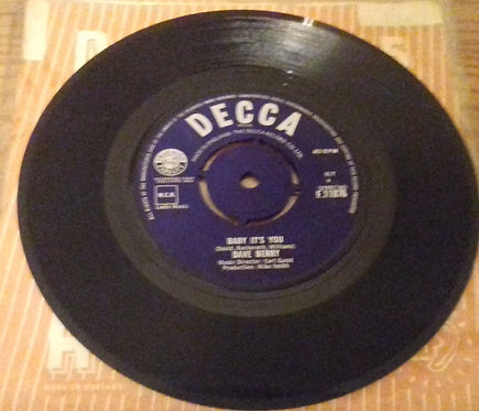 """Dave Berry - Baby It's You (7"""", Single) (Decca)"""