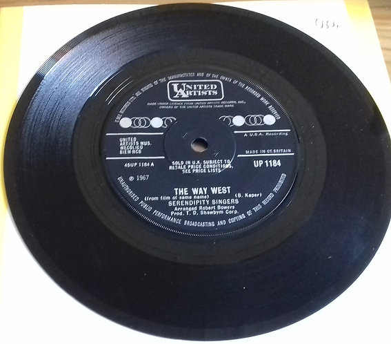 """The Serendipity Singers - The Way West (7"""", Single) (United Artists Records)"""