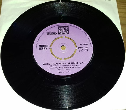 """Mungo Jerry - Alright, Alright, Alright (7"""", Single, 4 P) (Dawn (7))"""