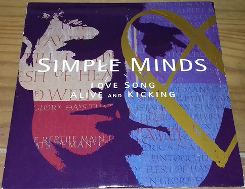 "Simple Minds - Love Song / Alive And Kicking (7"", Single) (Virgin, Virgin, Virgi"