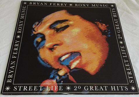 Bryan Ferry / Roxy Music - Street Life - 20 Great Hits (2xLP, Comp, RM, Gat) (EG
