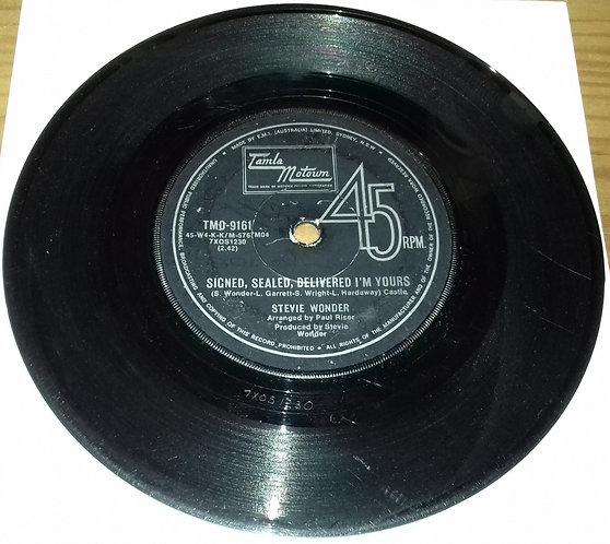 """Stevie Wonder - Signed, Sealed, Delivered I'm Yours / I'm More Than Happy (7"""","""