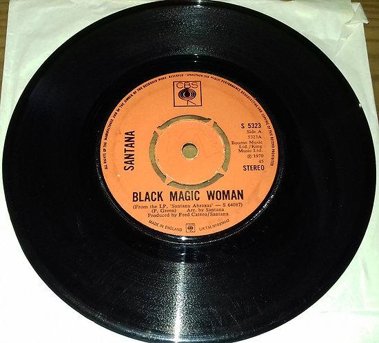 """Santana - Black Magic Woman / Hope You're Feeling Better (7"""", Single) (CBS)"""