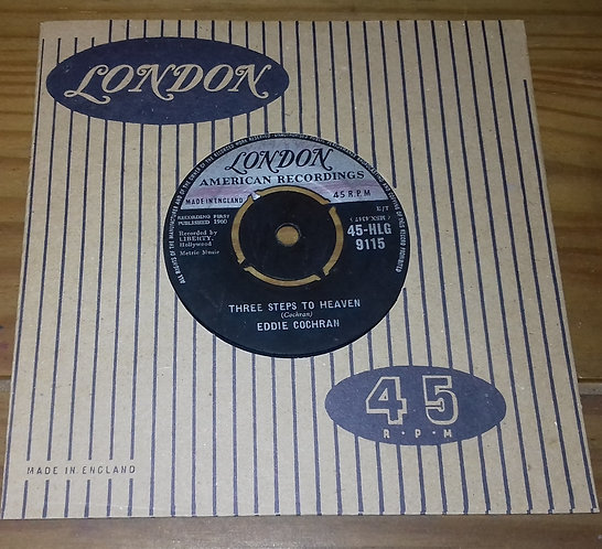 "Eddie Cochran - Three Steps To Heaven (7"", Single) (London Records, London Ameri"