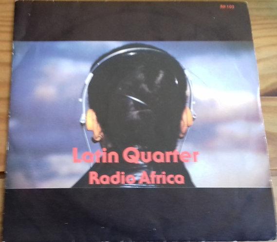 "Latin Quarter - Radio Africa (7"", Single) (Rockin' Horse Records, Arista)"