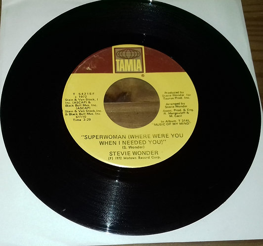 """Stevie Wonder - Superwoman (Where Were You When I Needed You) (7"""", Single) (Tam"""