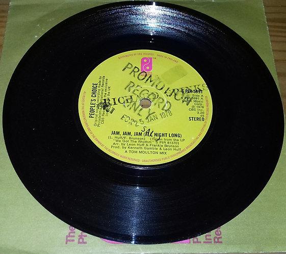 """People's Choice - Jam, Jam, Jam (All Night Long) (7"""", Single) (Philadelphia Inte"""