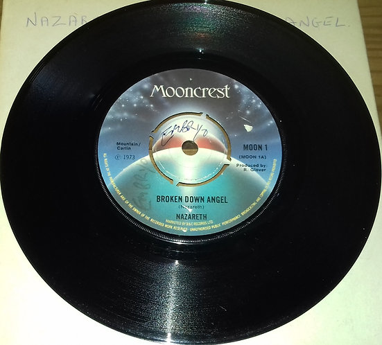 "Nazareth  - Broken Down Angel (7"", Single, 4 P) (Mooncrest)"