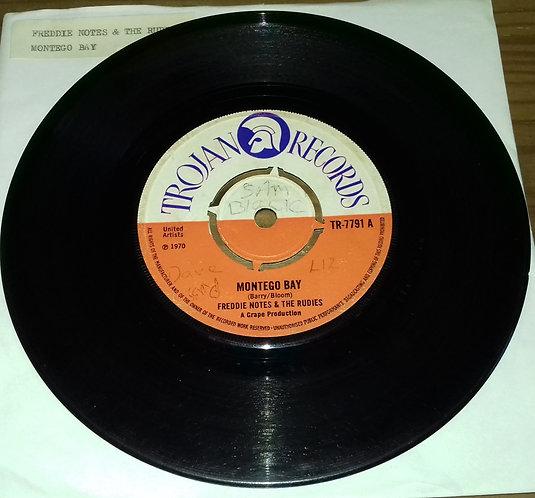 "Freddie Notes & The Rudies / The Rudies - Montego Bay / Blue Mountain (7"", Sing"
