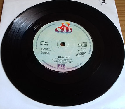 "Evelyn Thomas - Weak Spot (7"", Sol) (20th Century Records)"