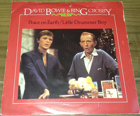 """David Bowie & Bing Crosby - Peace On Earth / Little Drummer Boy (7"""", Single, Mon"""