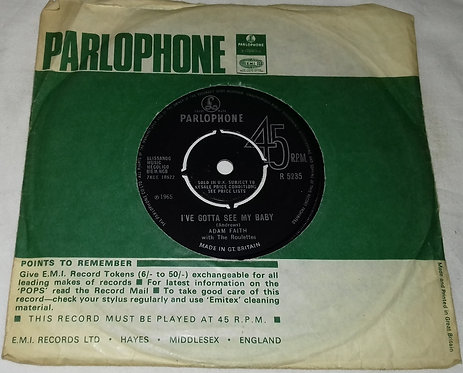 """Adam Faith - Stop Feeling Sorry For Yourself (7"""", Single) (Parlophone)"""