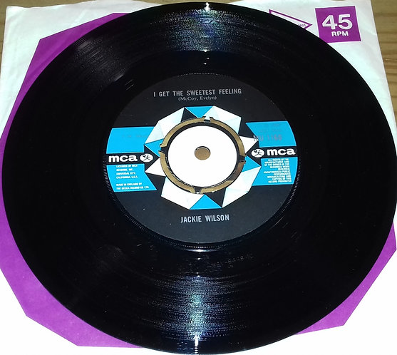 "Jackie Wilson - I Get The Sweetest Feeling (7"", Single) (MCA Records)"