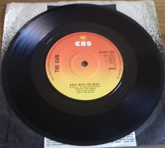 "The Gun - Race With The Devil (7"", Single, Mono, RE) (CBS)"