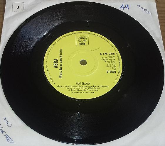 "ABBA, Bjorn, Benny, Anna & Frida* - Waterloo (7"", Single, Sol) (Epic)"