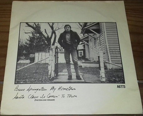 "Bruce Springsteen - My Hometown / Santa Claus Is Comin' To Town (7"", Single) (C"