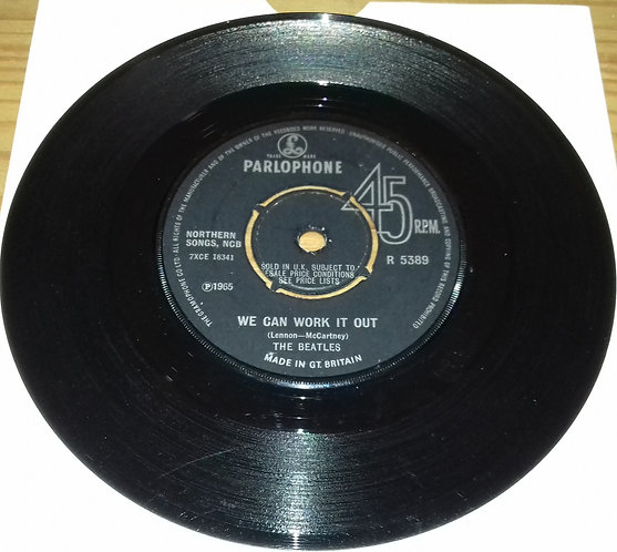 """The Beatles - We Can Work It Out / Day Tripper (7"""", Single) (Parlophone)"""