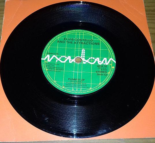 "Elvis Costello & The Attractions - Pump It Up (7"", Single, CBS) (Radar Records"
