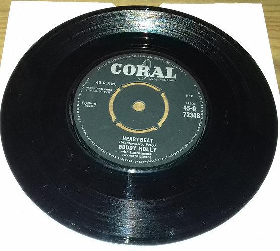 "Buddy Holly - Heartbeat (7"", Single, 4 P) (Coral)"