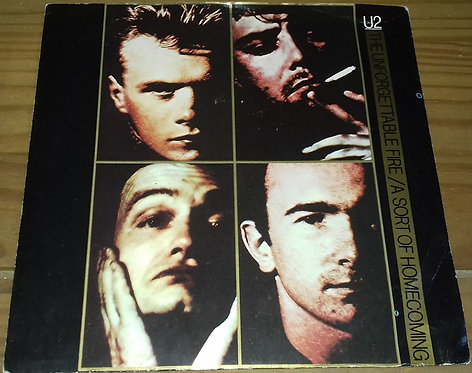 """U2 - The Unforgettable Fire / A Sort Of Homecoming (7"""", Single, Pap) (Island Re"""