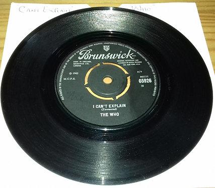 """The Who - I Can't Explain (7"""", Single) (Brunswick)"""