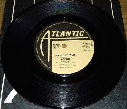 """AC/DC - Let's Get It Up / Back In Black (Recorded Live Dec 1981) (7"""", Single) (A"""