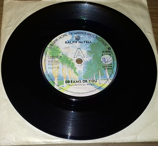 """Ralph McTell - Dreams Of You (7"""") (Warner Bros. Records)"""