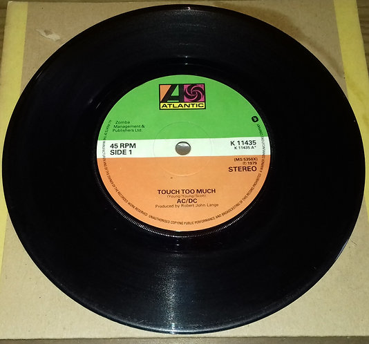 """AC/DC - Touch Too Much (7"""", Single) (Atlantic, Atlantic)"""