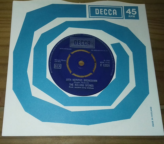 "The Rolling Stones - 19th Nervous Breakdown / As Tears Go By (7"", RE) (Decca)"