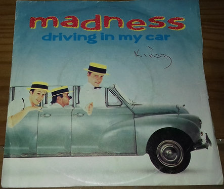 """Madness - Driving In My Car (7"""", Single) (Stiff Records)"""
