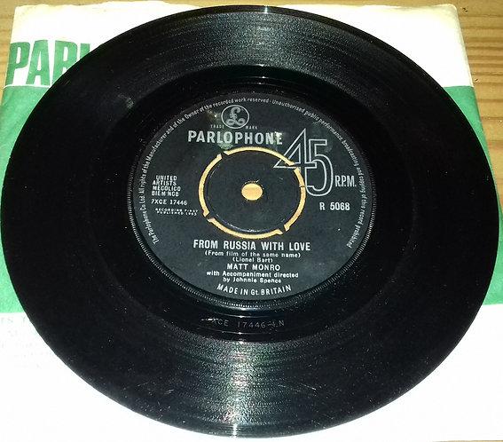 "Matt Monro - From Russia With Love (7"", Single) (Parlophone)"