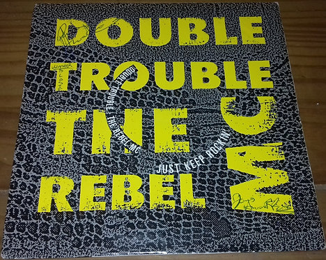"Double Trouble & The Rebel MC* - Just Keep Rockin' (7"", Single) (Desire Records"