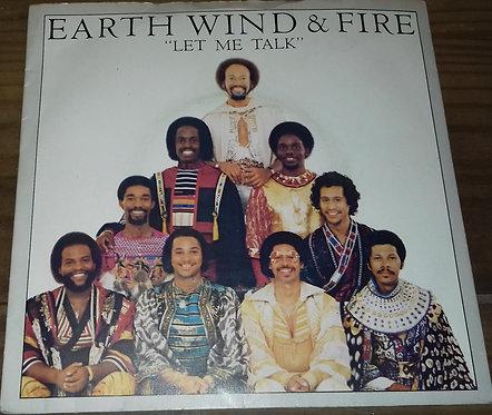 """Earth, Wind & Fire - Let Me Talk (7"""", Single) (CBS, CBS)"""