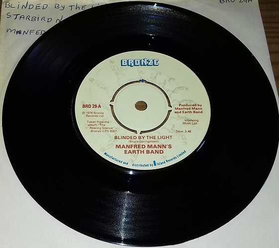 """Manfred Mann's Earth Band - Blinded By The Light (7"""", Single, Kno) (Bronze)"""