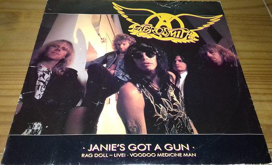 """Aerosmith - Janie's Got A Gun (12"""") (Geffen Records)"""