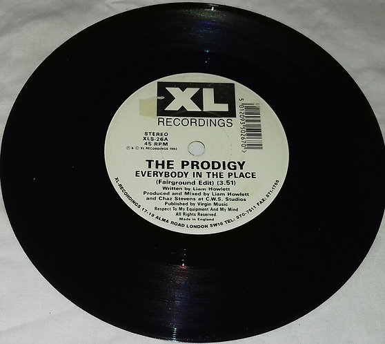 """The Prodigy - Everybody In The Place (7"""", Single) (XL Recordings)"""