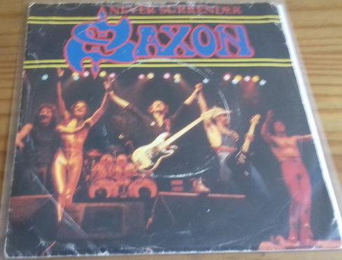 "Saxon - Never Surrender (7"", Single) (Carrere)"