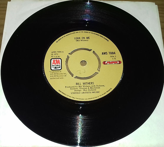 """Bill Withers - Lean On Me (7"""", Single) (A&M Records)"""