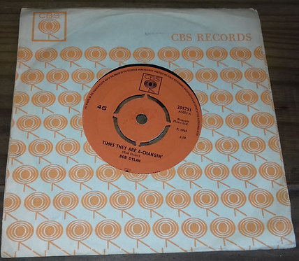 """Bob Dylan - Times They Are A-Changin' (7"""", Single, Mono) (CBS)"""