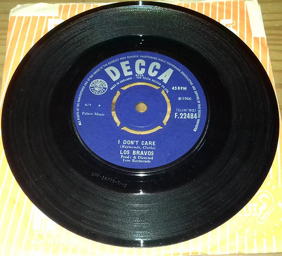 "Los Bravos - I Don't Care (7"", Single) (Decca)"