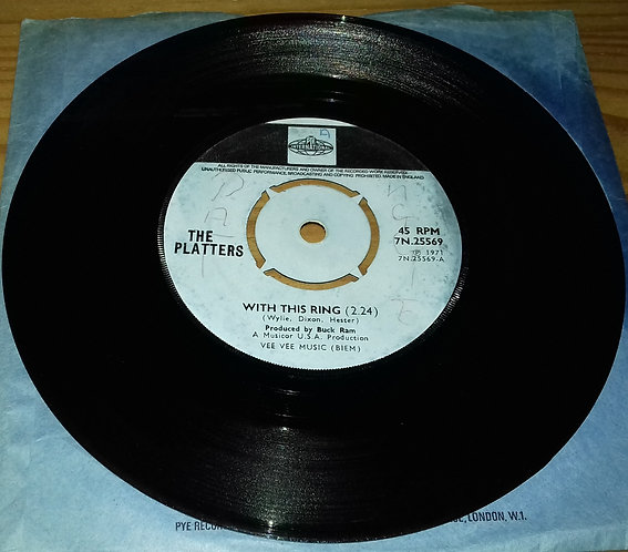 "The Platters - With This Ring (7"", Single) (Pye International)"