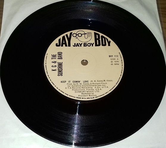 "K C & The Sunshine Band* - Keep It Comin' Love (7"", Single) (Jay Boy)"