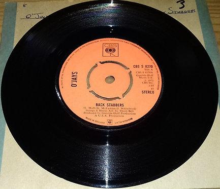"""O'Jays* - Back Stabbers (7"""", Single, Kno) (CBS)"""