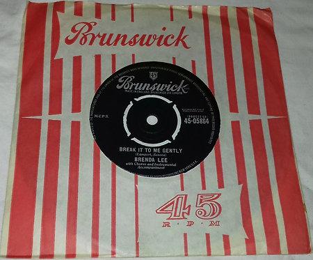 """Brenda Lee - Break It To Me Gently (7"""", Single) (Brunswick)"""