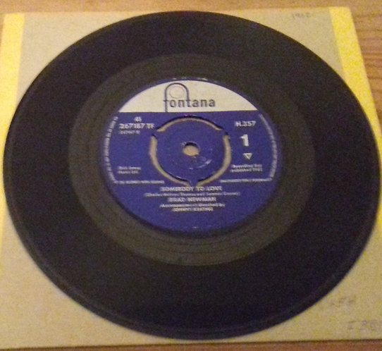 "Brad Newman  - Somebody To Love (7"", 3-p) (Fontana, Fontana)"