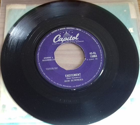 """Bob Summers  - Excitement / Rattle Rhythm (7"""", Single) (Capitol Records)"""