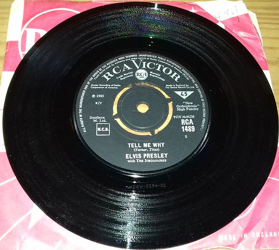 """Elvis Presley With The Jordanaires - Tell Me Why / Puppet On A String (7"""", Singl"""