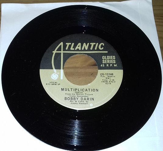 "Bobby Darin - Multiplication / Artificial Flowers (7"", RE) (Atlantic)"