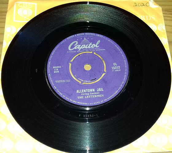 """The Lettermen - Allentown Jail (7"""", Single) (Capitol Records)"""